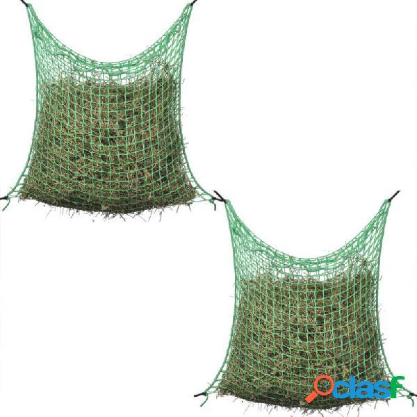 Redes para heno 2 uds cuadradas 0,9x1m pp vida xl