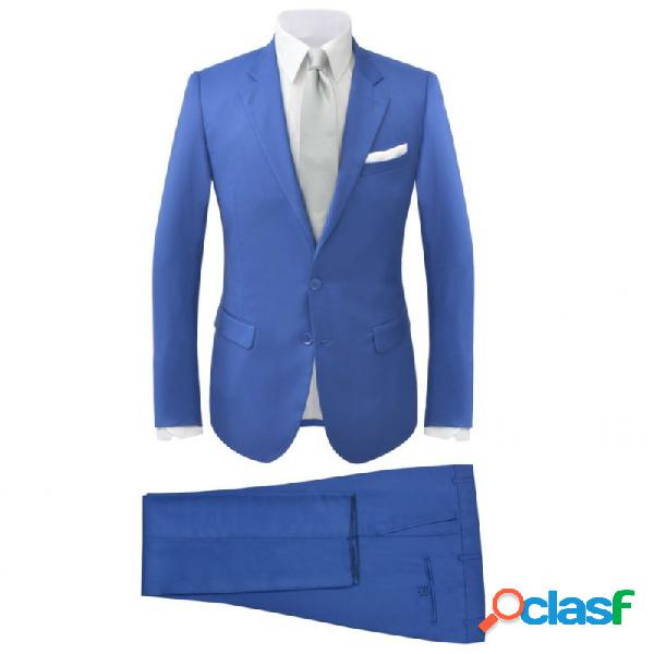 Traje de chaqueta de hombre 2 piezas azul real talla 48 vida xl