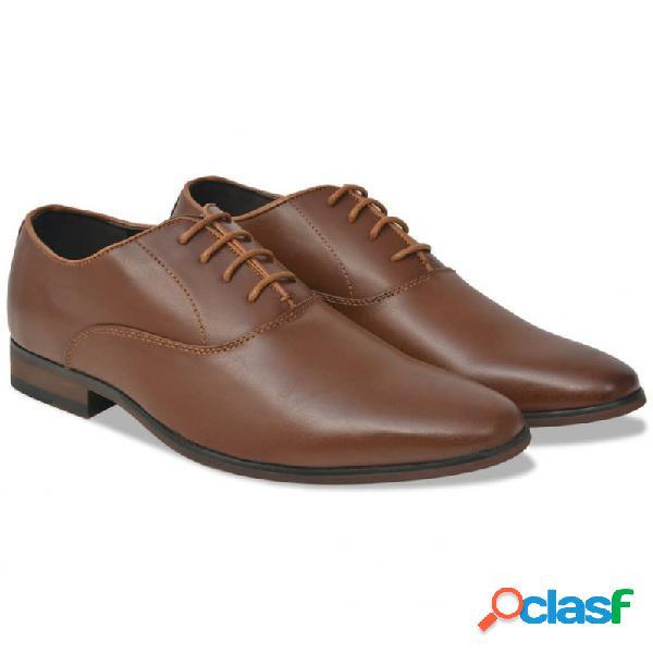 Zapatos de vestir negocios hombre cordones marrón t 41 cuero pu vida xl
