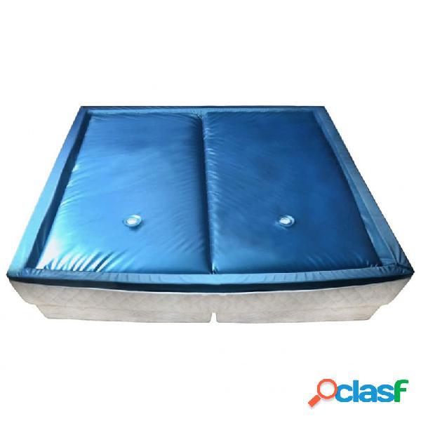 Colchón de cama de agua con forro y divisor 200x200cm f5 vida xl
