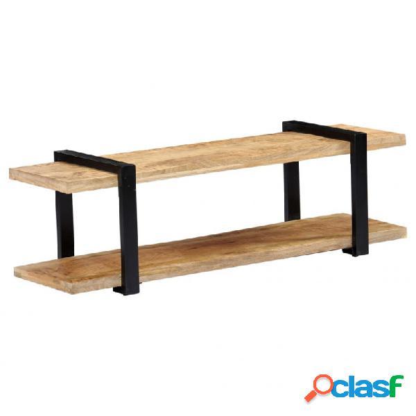 Mueble para la tv demaderamaciza demango 130x40x40cm vida xl