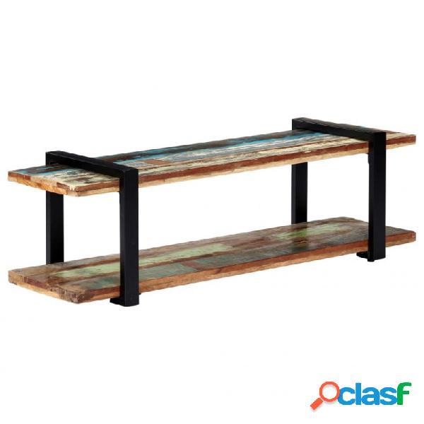 Mueble para la tv demaderamaciza reciclada 130x40x40cm vida xl