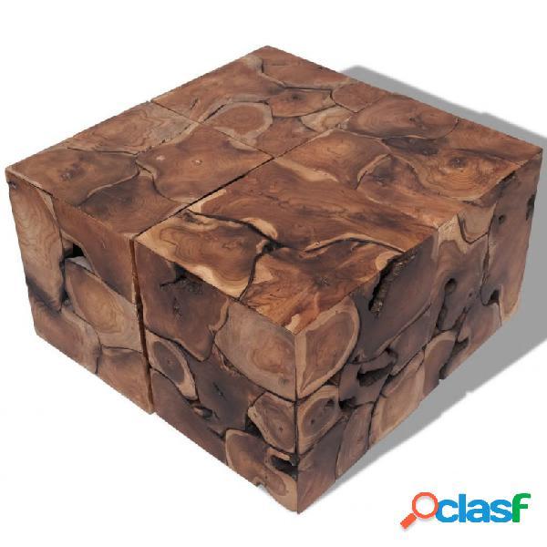 Taburetes/mesa de centro madera de teca maciza vida xl