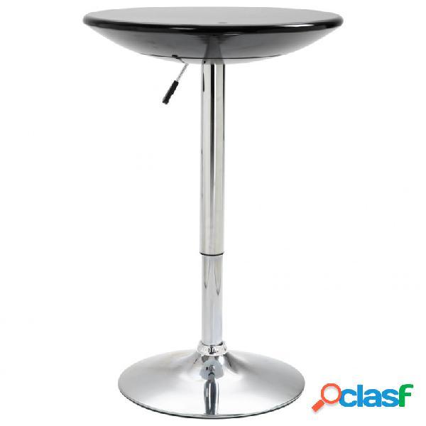 Mesa alta de cocina abs negro ø60cm vida xl