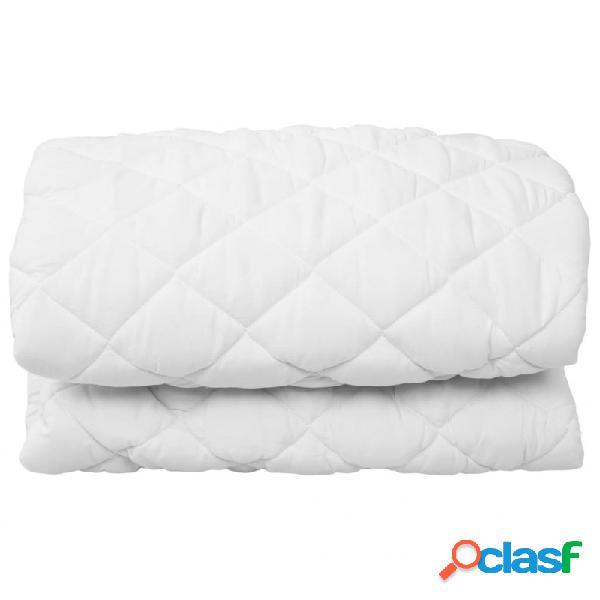 Protector de colchón acolchado ligero blanco 160x200cm vida xl