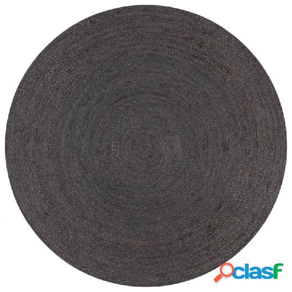Alfombra de yute tejida amano 90cm gris oscuro vida xl