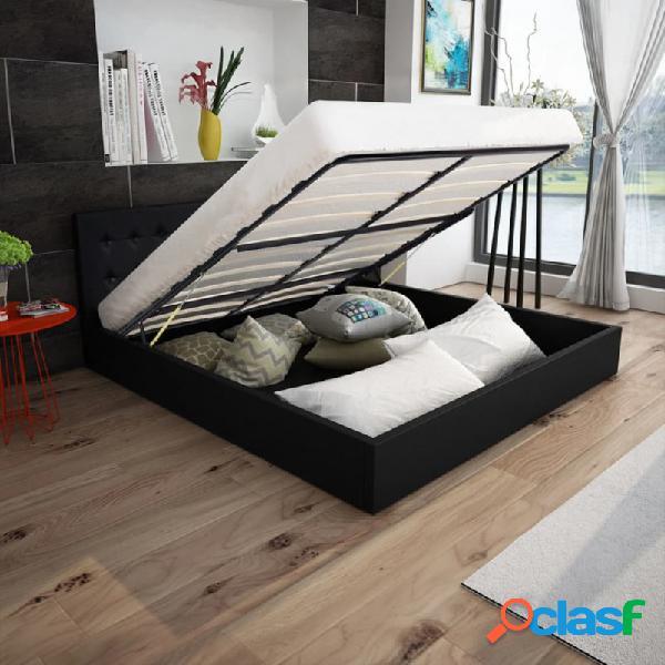 Cama canapé con colchón cuero artificial blanca 180x200cm vida xl