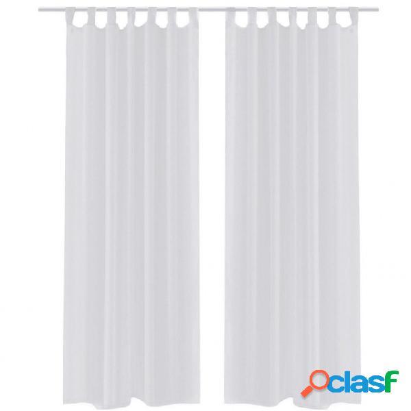 2 cortinas blancas transparentes 140 x 225 cm vida xl