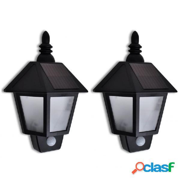 Lámparas de pared con sensor movimiento 2 unidades vida xl