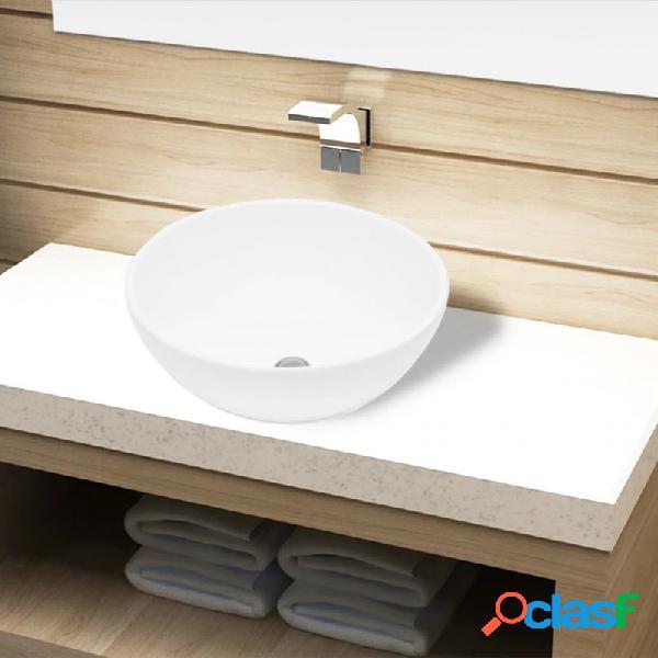 Lavabo de cuarto de baño redondo cerámica blanco vida xl