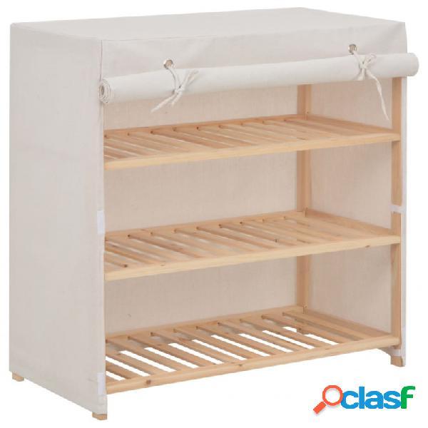 Mueble zapatero con funda de tela blanco 79x40x80cm vida xl