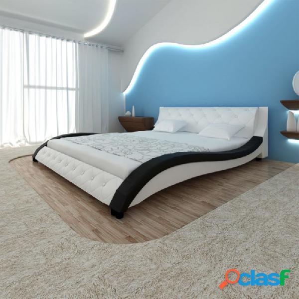 Cama con colchón viscoelástico cuero sintético 180x200cm vida xl