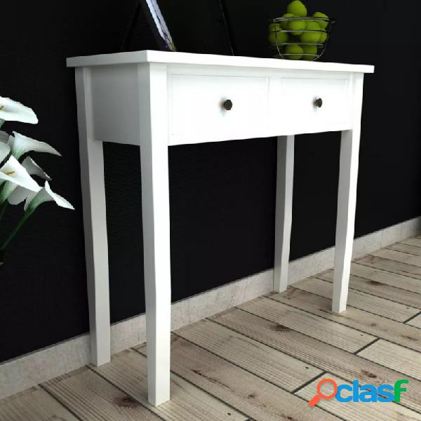 Mesa consola tocador con dos cajones blancos vida xl