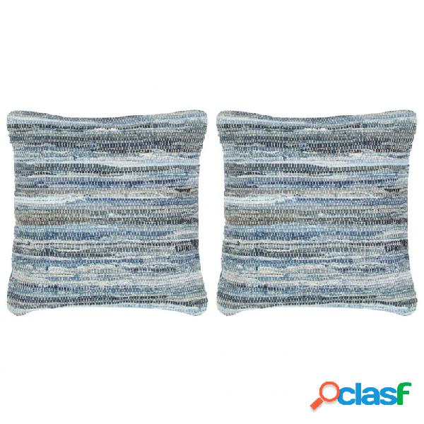 Cojines chindi vaqueros 2 unidades algodón azul 45x45cm vida xl