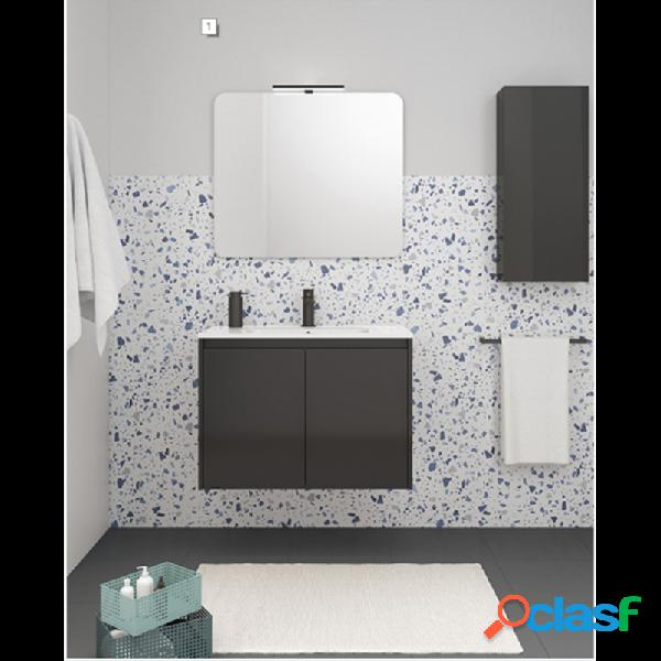 Mueble de baño 2 puertas con lavabo cerámico sansa royo