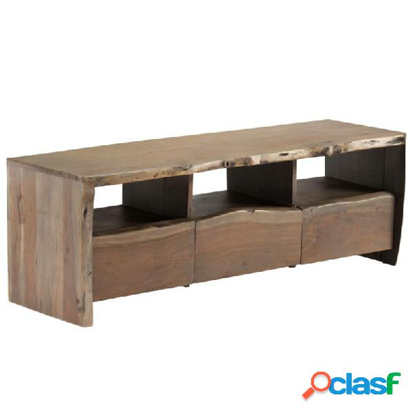 Mueble de tvadera acaciaaciza borde irregular 120x35x40cm vida xl