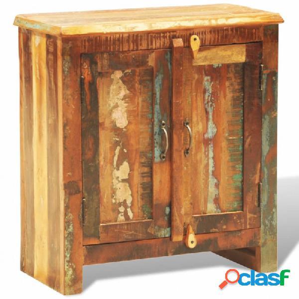 Aparador de madera reciclada con 2 puertas estilo vintage vida xl