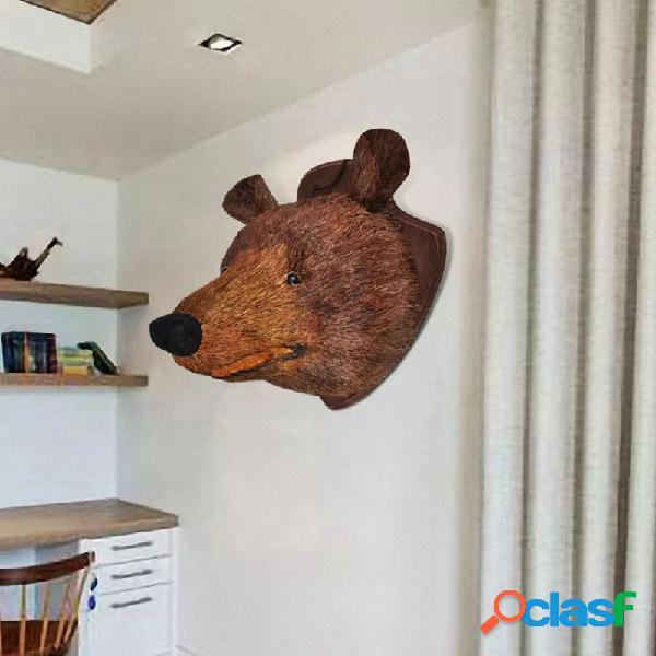 Cabeza de oso decoración montado en pared aspecto natural vida xl