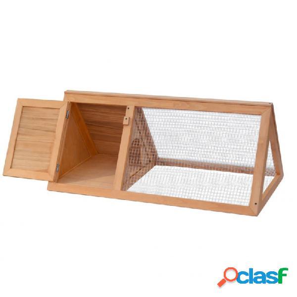 Conejera jaula de animales de madera vida xl