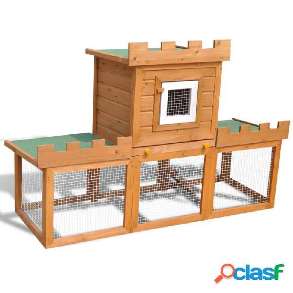 Casa grande de animales jaula conejera de madera vida xl