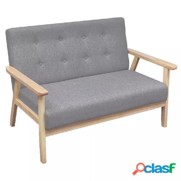 Sofá de 2 plazas de tela gris claro vida xl