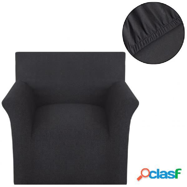 Funda elástica para sofá de algodón jersey color antracita vida xl