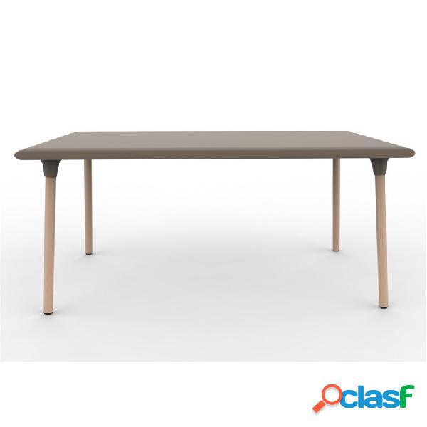 Mesa rectangular color chocolate wood new flash de resol