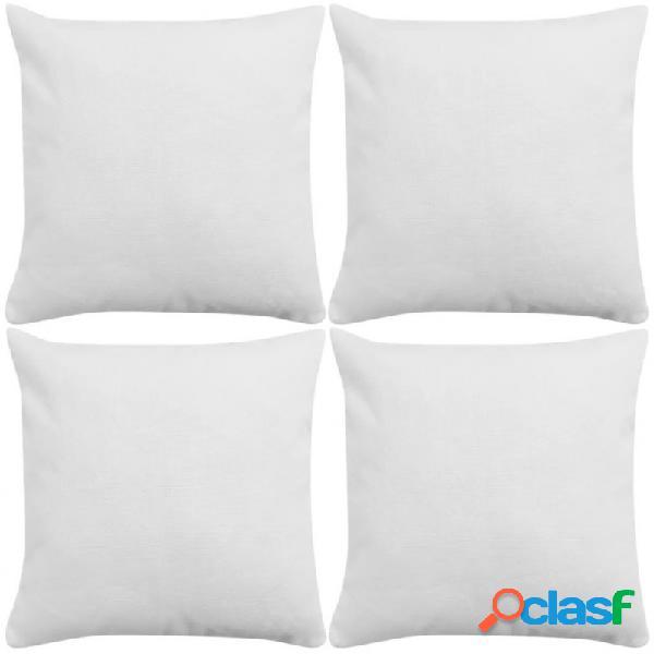 Fundas de cojines 4 uds apariencia de lino blanco 40x40 vida xl