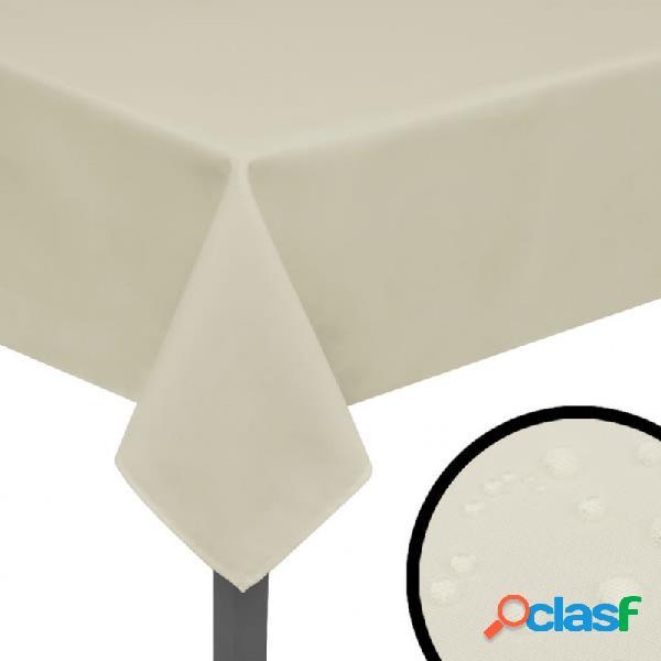 Manteles de mesa 5 unidades crema 170x130 vida xl