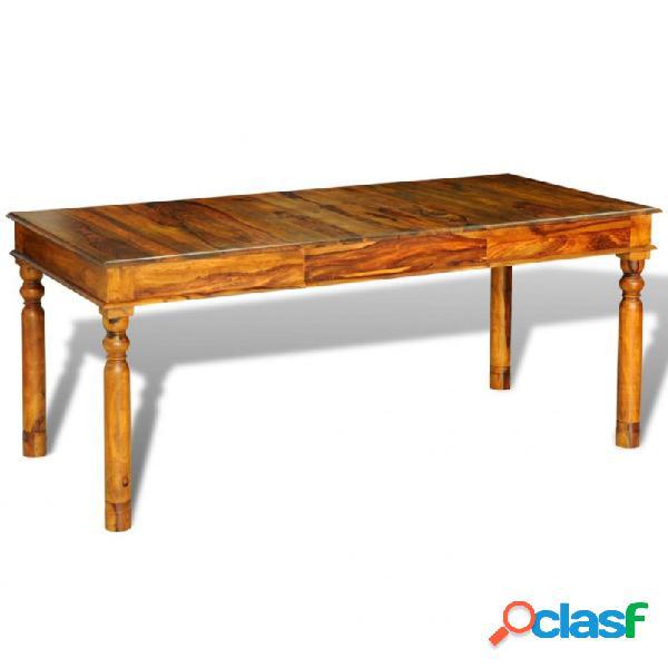 Mesa de comedor de madera maciza de sheesham 180x85x76 cm vida xl