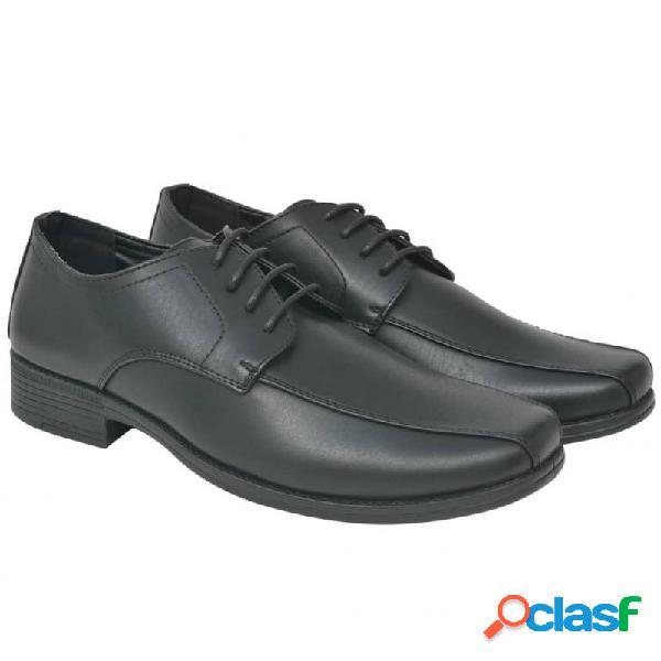 Zapatos de vestir negocios hombre cordones negros t 41 cuero pu vida xl