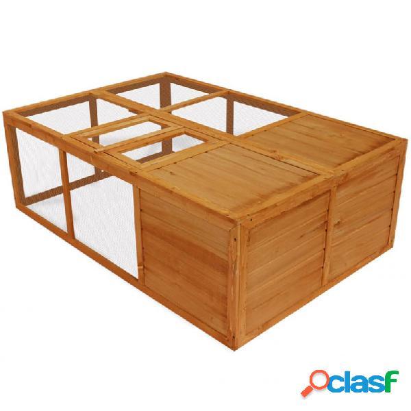 Jaula de animales plegable de madera vida xl