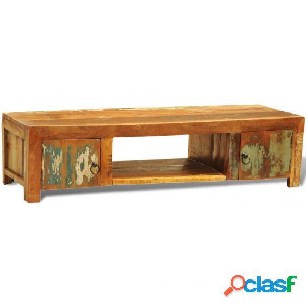 Mueble para la tv vintage con 2 puertas madera reciclada vida xl