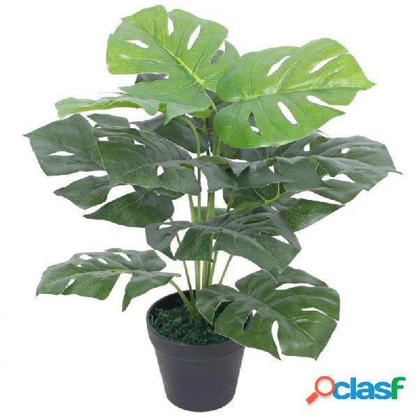 Planta deonstera artificial conaceta verde 45cm vida xl