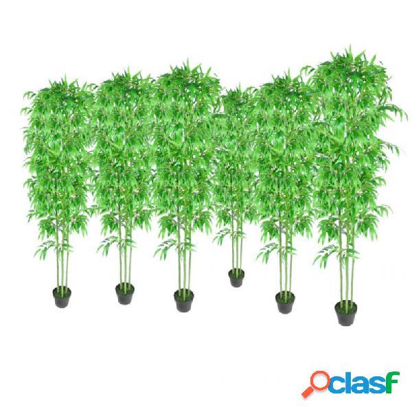 Bambú plantas artificiales hogar decoración set de 6 vida xl