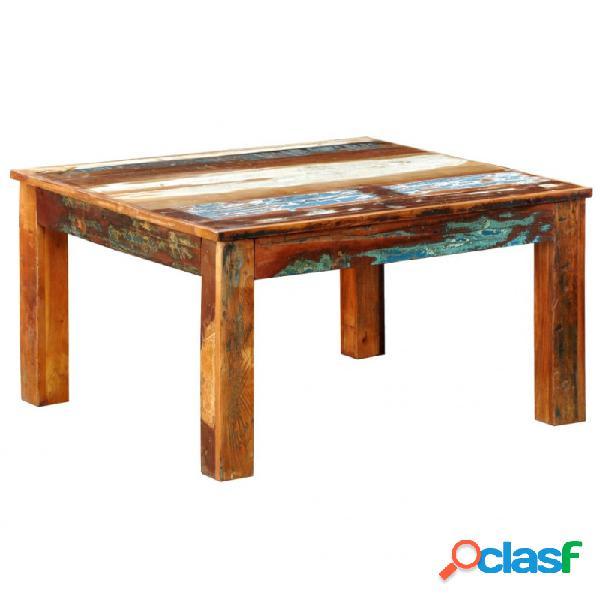 Mesa de centro cuadrada de madera reciclada vida xl