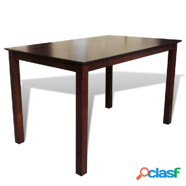 Mesa de salón comedor rectangularmaderamacizamarrón 110cm vida xl