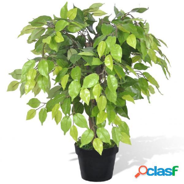 Planta enana artificial de ficus enmaceta, 60cm vida xl