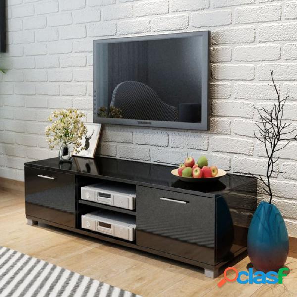 Aparador para tv alto brillo negro 120x40,3x34,7cm vida xl