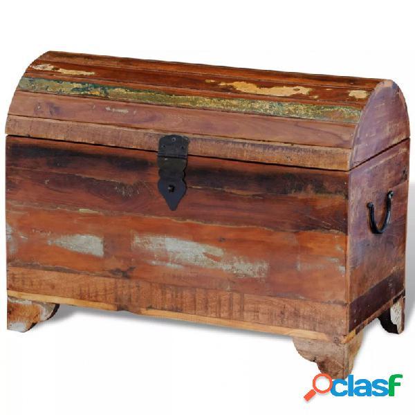 Baúl de almacenamiento de madera reciclada maciza vida xl