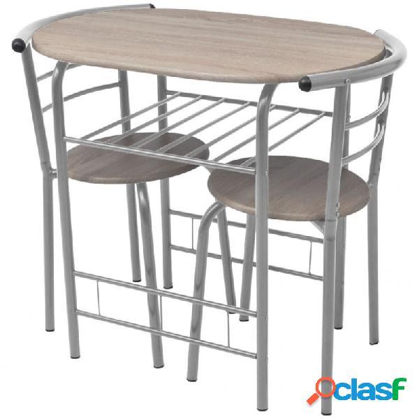 Mesa alta de cocina o bar y taburetesdf vida xl