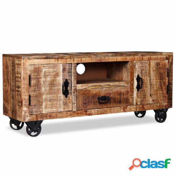 Mueble para la tv deadera deango rugosa 120x30x50cm vida xl