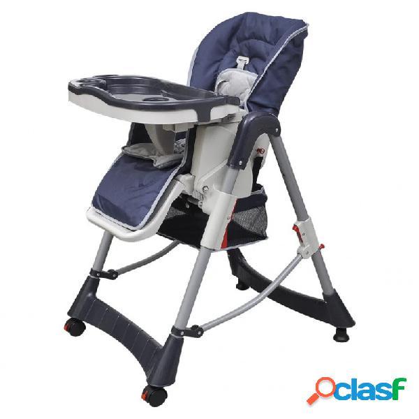 Trona de bebé deluxe de altura ajustable azul oscuro vida xl