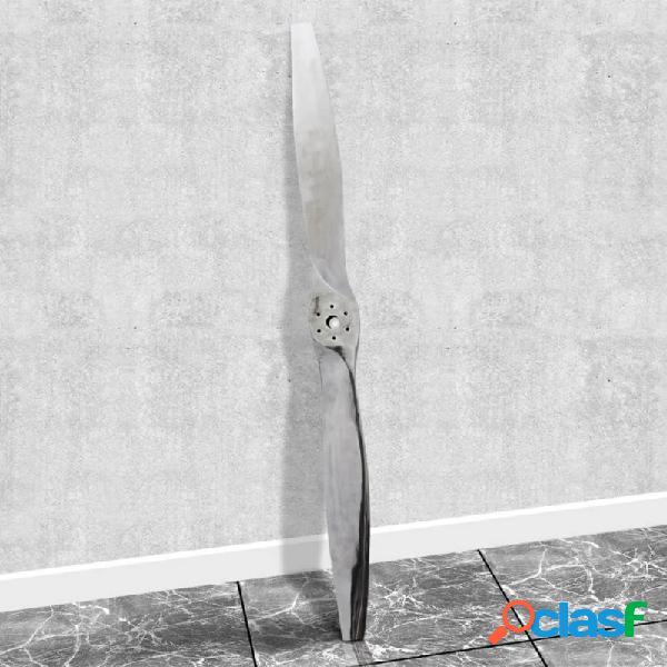 Hélice de aeronave de aluminio decorativa para pared 182cm (plateada) vida xl