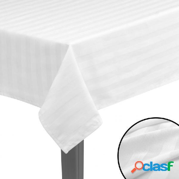 Manteles de mesa algodón satinado blanco 5 unidades 100x100cm vida xl