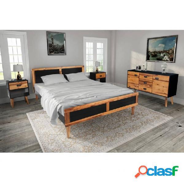 Set demuebles de dormitorio 4 piezas acaciamaciza 140x200cm vida xl