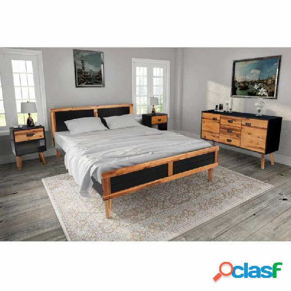Set demuebles de dormitorio 4 piezas acaciamaciza 180x200cm vida xl