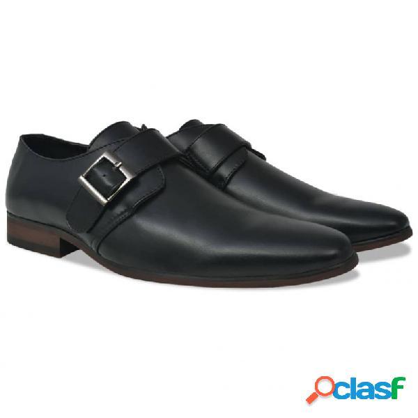 Zapatos de hombre monk strap negros talla 40 cuero pu vida xl