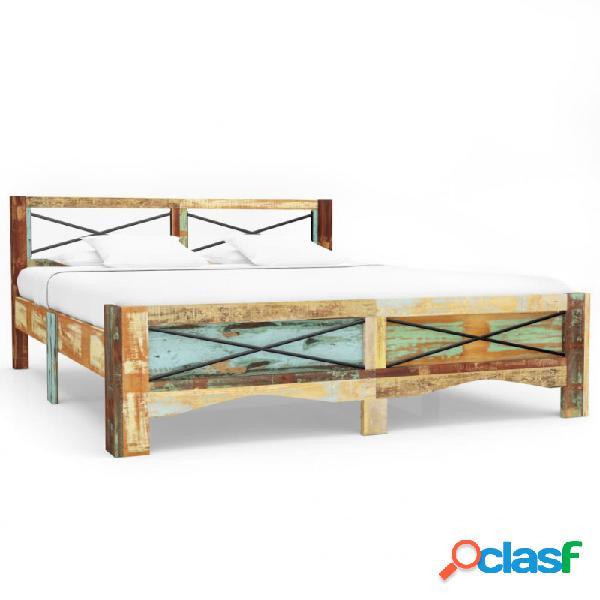 Estructura de cama demaderamaciza reciclada 140x200cm vida xl