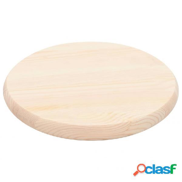 Tablero demesa redondo de pino natural 25mm 30cm vida xl